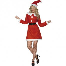 Bargain Miss Santa Fancy Dress Costumes