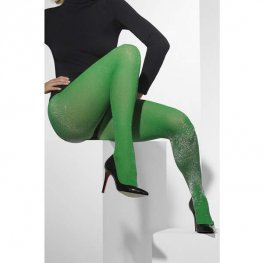 Green and Silver Sparkle Tights