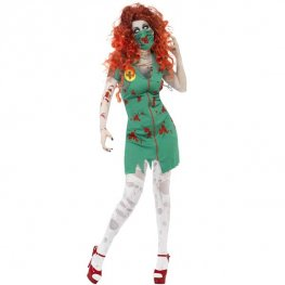 Zombie Scrub Nurse Halloween Fancy Dress Costumes