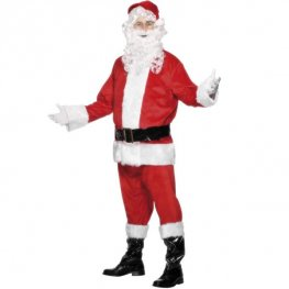 Velour Santa Fancy Dress Costumes