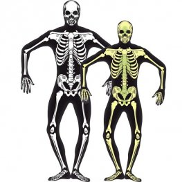 Glow In The Dark Skeleton Halloween Fancy Dress Costumes