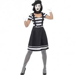 Lady Mime Artist Halloween Costume