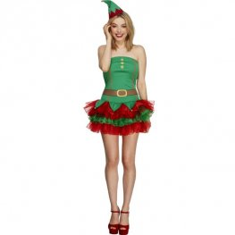 Fever Tutu Elf Fancy Dress Costumes