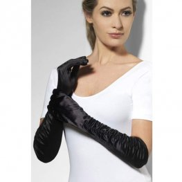 Long Black Temtress Gloves