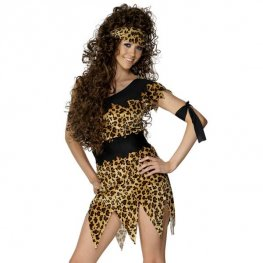 Cavewoman Leopard Print Fancy Dress Costumes