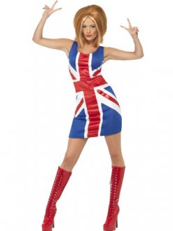 Union Jack Female Fancy Dress Costumes