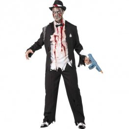 Zombie Gangster Halloween Fancy Dress Costuems