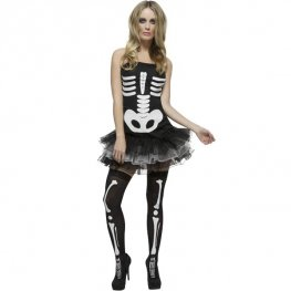Sexy Skeleton Tutu Halloween Fancy Dress Costumes