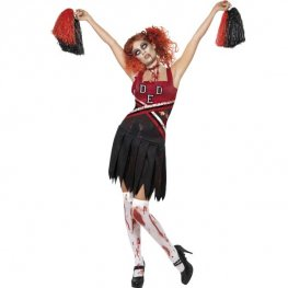 High School Cheerleader Halloween Fancy Dress Costumes