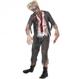 Zombie School Boy Halloween Fancy Dress Costumes