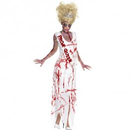 Zombie Prom Queen Halloween Fancy Dress Costumes