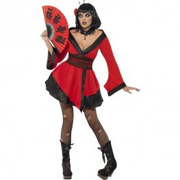 Gothic Geisha Woman Halloween Costume