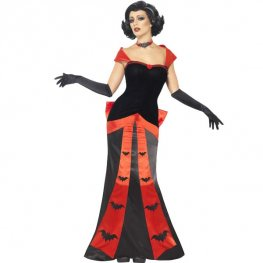 Glam Vampiress Halloween Fancy Dress Costumes