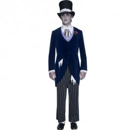 Gothic Manor Ghost Groom Halloween Costume