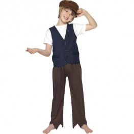 Victorian Poor Peasant Boy Fancy Dress Costumes