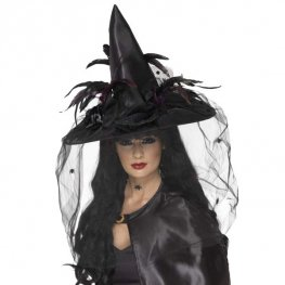Deluxe Witch Hats Black