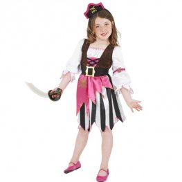 Pink Pirate Girl Fancy Dress Costumes