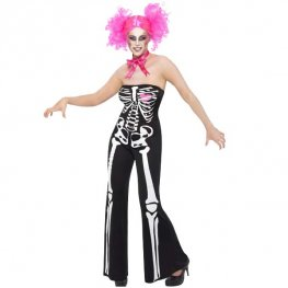 Sassy Skeleton Halloween Fancy Dress Costumes