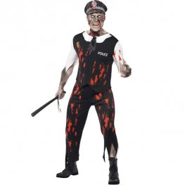 Zombie Policeman Halloween Fancy Dress Costumes