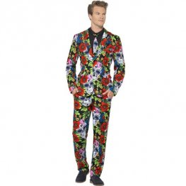 Mens Day Of The Dead Halloween Suit