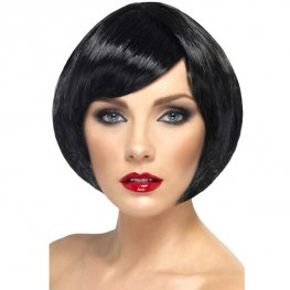 Black Babe Bob Wigs With Fringe