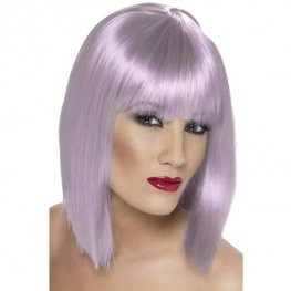 Lilac Glam Wigs With Fringe