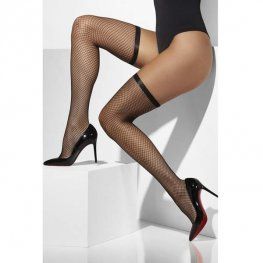 Black Thigh High Lattice Stockings