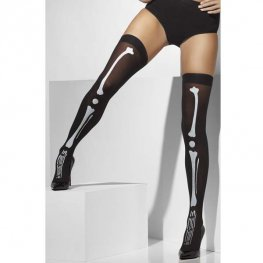 Black Skeleton Print Stockings
