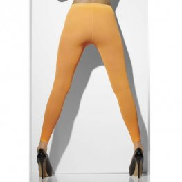 Neon Orange Footless Tights