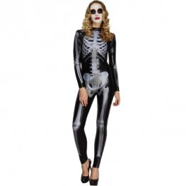 Fever Skeleton Catsuit Costumes