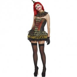 Fever Creepy Zombie Clown Costumes