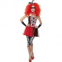 Twisted Harlequin Halloween Costume