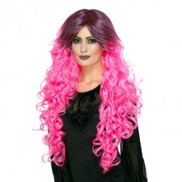 Neon Pink Gothic Glamour Wig