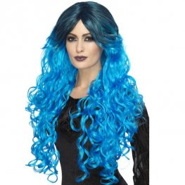 Electric Blue Gothic Glamour Wig