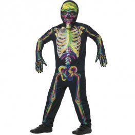 Glow In The Dark Skeleton Kids Costume