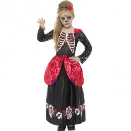 Deluxe Day Of The Dead Girls Costume