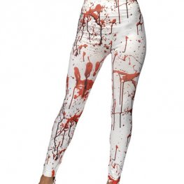 White Horror Leggings
