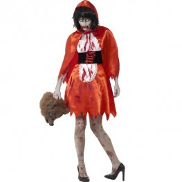 Zombie Little Miss Hood Halloween Costume
