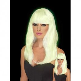Glow In The Dark Glam Party Wig