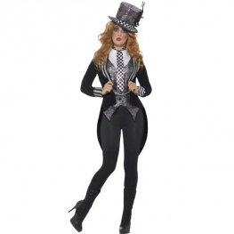 Deluxe Dark Miss Hatter Halloween Costume