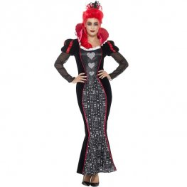 Deluxe Baroque Dark Queen Fancy Dress Costume