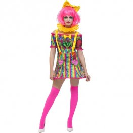 Fever Patchwork Clown Halloween Costume