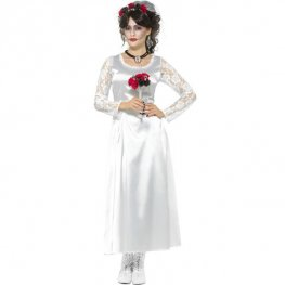Day Of The Dead Bride White Costume
