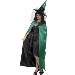 Deluxe Teal And Black Witches Cape