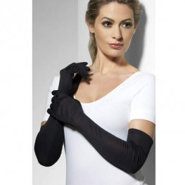Long Black Gloves 52cm
