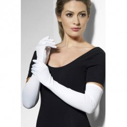 Long White Gloves 52cm