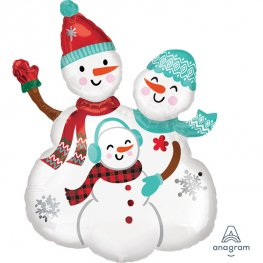 Snow Family Supershape Balloons