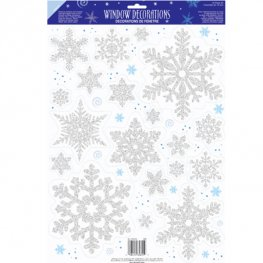 Prismatic Snowflake Vinyl Window Decorations