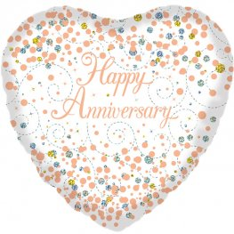 "18"" Sparkling Fizz Happy Anniversary Foil Balloons"
