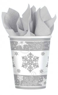 Sparkling Snowflakes Paper Party Cups 8pk